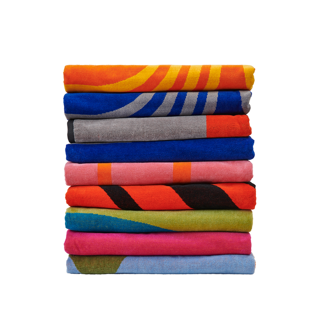 Lateral Objects Beach Towels