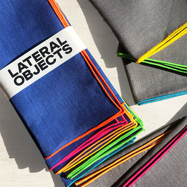 Lateral Objects Frame Napkins