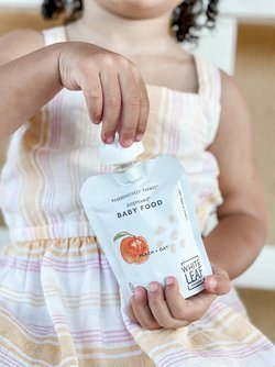 Peach + Oat Baby Food Blend (box of 6 pouches)