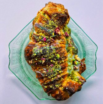Pistachio Rose Croissant