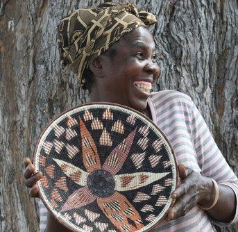 Kavango Basket Flower Brown Lavendar
